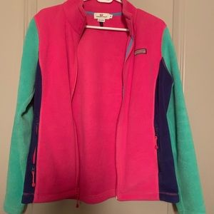 Women's Vineyard Vines fleece zip up jacket size M